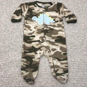 3/$15 Carter's Camouflage Dino Fleece Baby Sleeper
